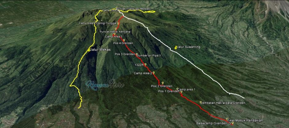Merbabu Via Dusun Grenden tracklog GPS